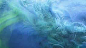 Steam cloud motion overlay blue green fume blend