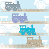 Steam colorful locomotives. Royalty Free Stock Photos