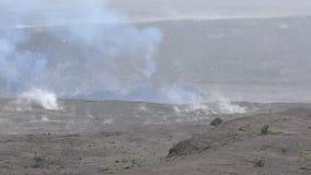 Kilauea volcano in Hawaii stock footage