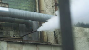 Steam Coming Out From A Tube Pipe stock video footage