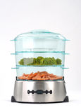 Steam cooker with vegetables Royalty Free Stock Photo