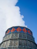 Steam from cooling tower Royalty Free Stock Images