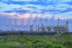 Steam cooling tower. Royalty Free Stock Photo