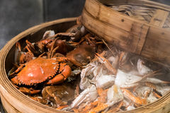 Steam crab Stock Images