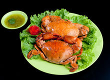 Steamed crabs a special seafood menu isolated  Stock Photos