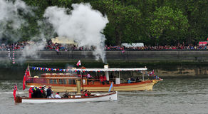 Steam Diamond Jubilee Pageant Stock Images
