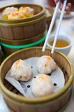 Steam dim sums Stock Photo