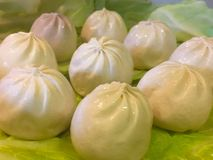 Steam dumplings. On a background prepared for cooking Stock Photography
