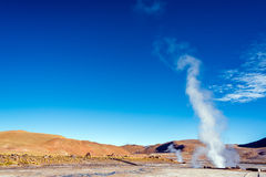 Steam at El Tatio Geysers Royalty Free Stock Images