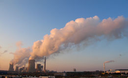 Steam of electric power plants Royalty Free Stock Photos