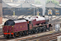 Steam and Electric trains Royalty Free Stock Image