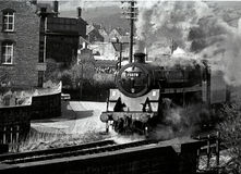 Steam engine. Keighley and Worth Valley Railway, Yorkshire Uk Stock Photos