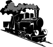 Steam engine. Vector illustration of an old steam engine Stock Photography