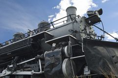 Steam Engine 6. Detail of a vintage steam engine on display in Colorado Stock Photos