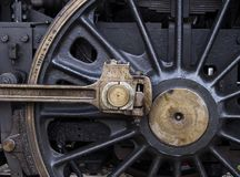 Steam engine. Axle and wheel Royalty Free Stock Image