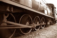 Steam Engine. Sepia Image of an old Steam Engine royalty free stock photos