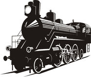 Steam engine. Vector illustration of an old steam engine Stock Photo