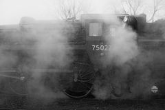 Steam engine. In profile (partial royalty free stock images