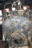 Steam Engine in Antique Train Royalty Free Stock Photography