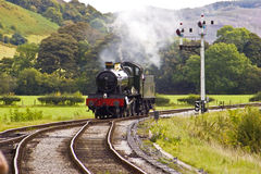 Steam Engine Approaching Royalty Free Stock Photography
