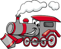 Steam engine cartoon character Stock Photography