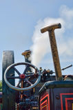 Steam Engine with coal shovel Royalty Free Stock Photos