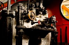 Steam Engine Controls Stock Photo