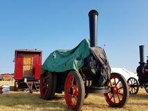 Steam engine covered stock image