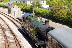 Steam engine Dartmouth railway station Devon Stock Photography