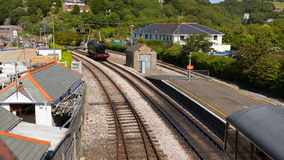 Steam engine Dartmouth railway station Devon Stock Photo
