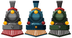Steam engine designs in three colors Royalty Free Stock Photography