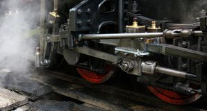 Steam engine. Detail of old steam engine Royalty Free Stock Photo