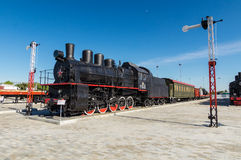 The steam engine exhibit history Museum, Ekaterinburg, Russia, Stock Photos