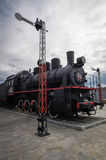 The steam engine exhibit history Museum, Ekaterinburg, Russia, Royalty Free Stock Photography