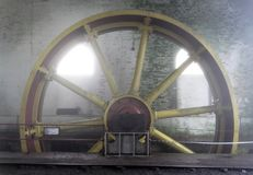 Steam Engine Funicular Wheel Stock Image