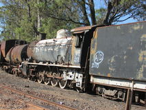 Steam Engine Graveyard in Queenstown Eastern Cape. We came across this steam engine graveyard, where there were rails of these beautiful monsters gone to rest Royalty Free Stock Image