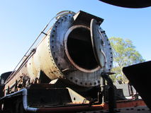 Steam Engine Graveyard in Queenstown Eastern Cape. We came across this steam engine graveyard, where there were rails of these beautiful monsters gone to rest Royalty Free Stock Photo