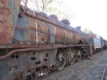 Steam Engine Graveyard in Queenstown Eastern Cape. We came across this steam engine graveyard, where there were rails of these beautiful monsters gone to rest Royalty Free Stock Photography