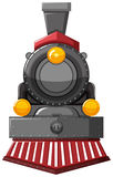 Steam engine in gray color. Illustration stock illustration