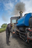 Steam engine hauled train Royalty Free Stock Photo