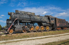 Steam engine locomotive cl L originally O, produced in 4199 units by Kolomna 1945-1955, displayed at the AvtoVAZ Technical Museum Stock Photo