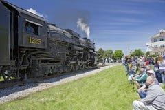 Steam engine locomotive Stock Images