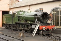 Steam engine maintenance, Minehead Royalty Free Stock Image