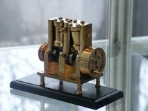 Steam engine model Stock Photo
