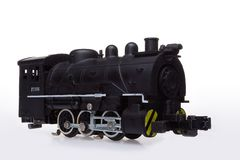 Steam engine model. Old steam engine toy royalty free stock photos