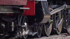 Steam engine moving slowly forward 4K stock video footage