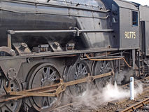 Steam engine No 90775 Stock Image