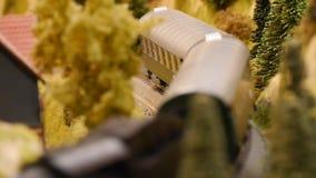 Steam engine - old train locomotive - nostalgic technology - focus on detail - Hobby model stock video