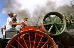 Steam engine operators Stock Photography