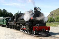 Steam engine and Passenger Cars Royalty Free Stock Images